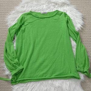 Bright green Zara knit